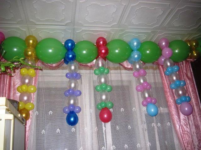 Фото как сделать гирлянду из шаров